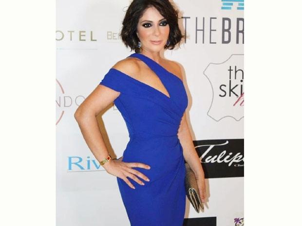 منى زكي من حفل جوائز بيروت الذهبية