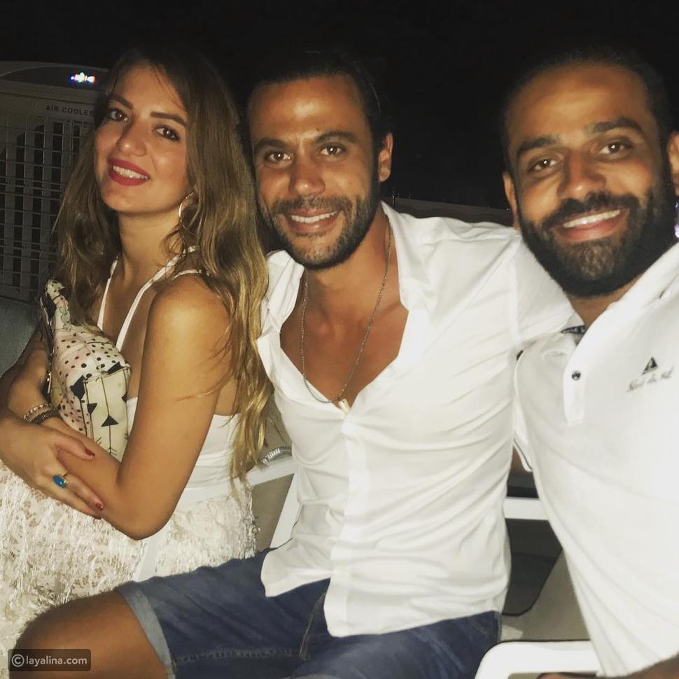 عمر السعيد مع محمد إمام وعروسه