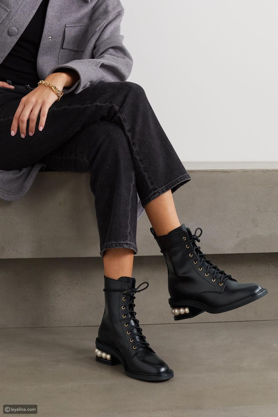أحذية عسكريةبكعب عالي