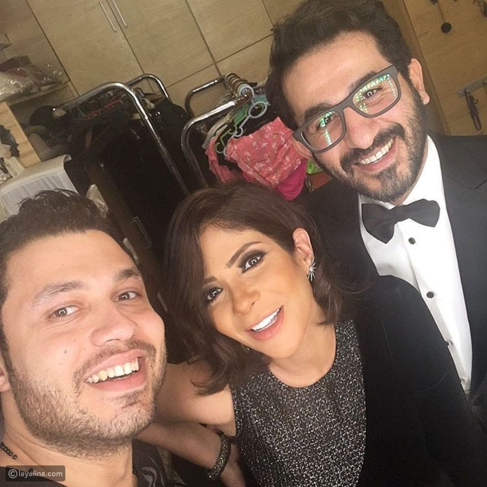 صور منى زكي تساند زوجها بإطلالة رائعة في مهرجان القاهرة