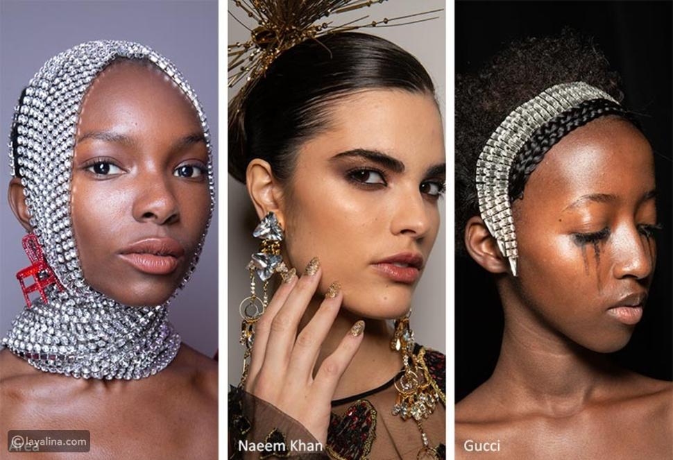 مجوهرات وأغطية للرأس كبيرة للشعر
