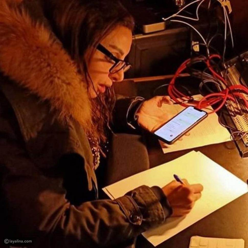 أنغام تحضر ألبومها الجديد