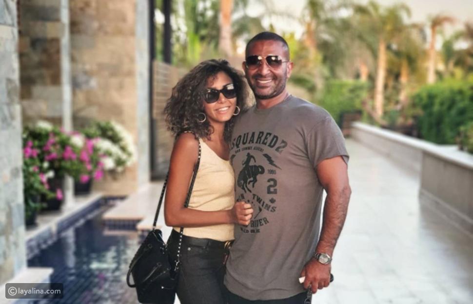 أحمد سعد وخطيبته عليا بسيوني