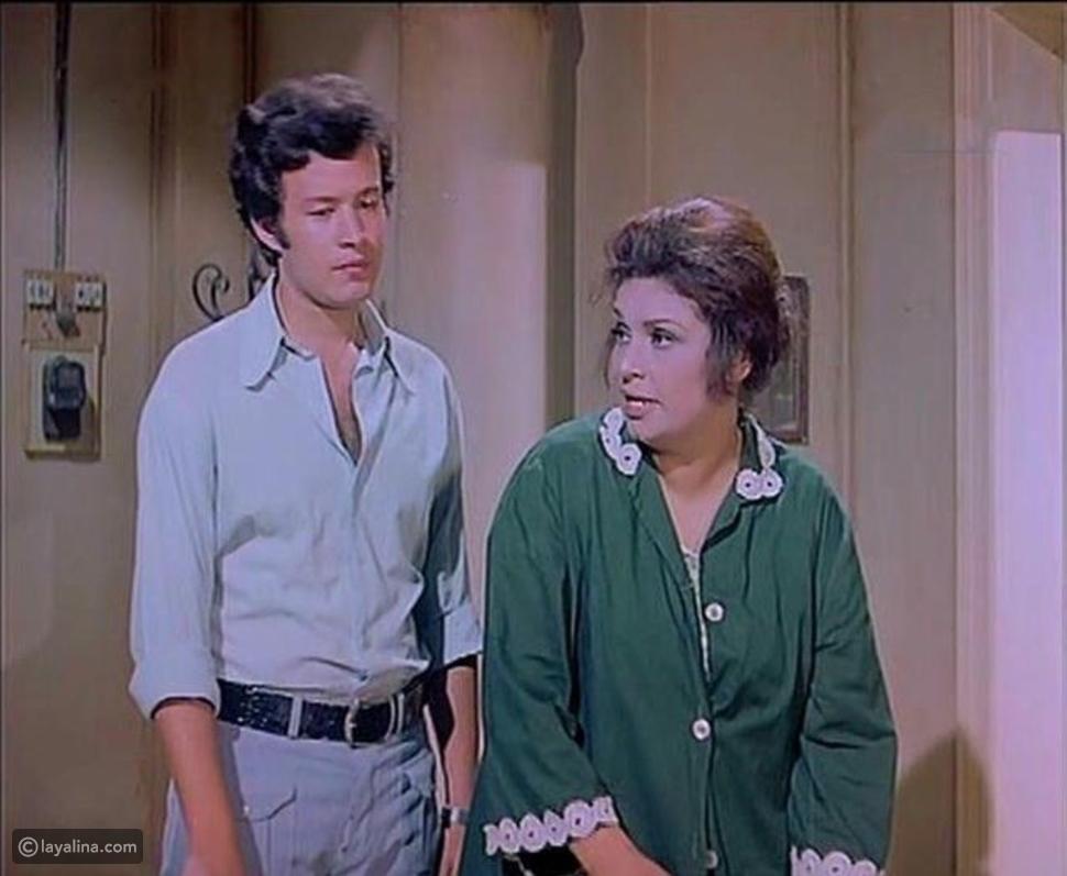محمد يحيى مع كريمة مختار في فيلم الحفيد عام 1974