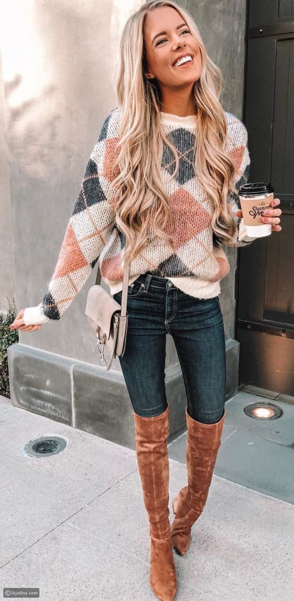 كنزة Argyle knits