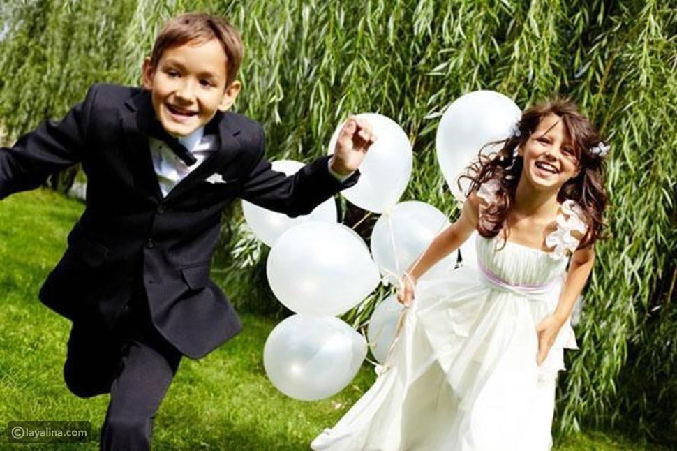 الأطفال في حفل الزفاف