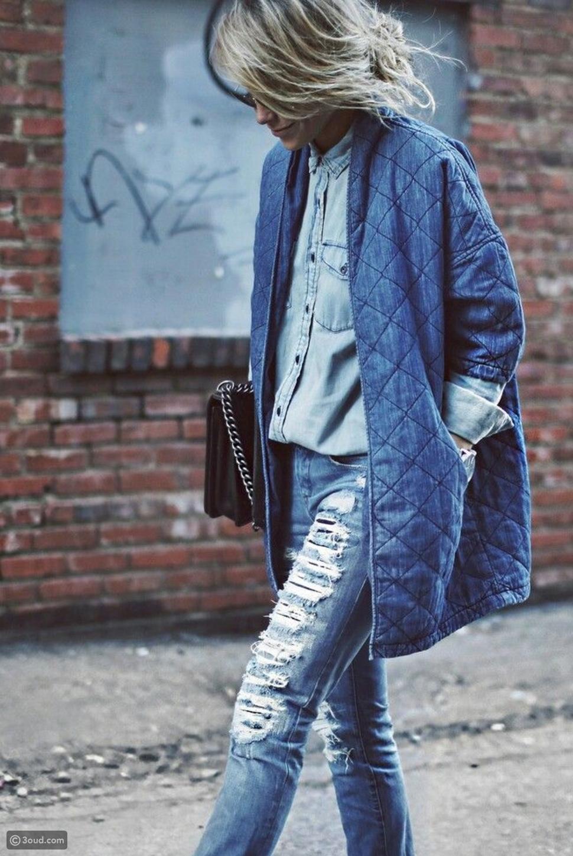 جينز مبطن