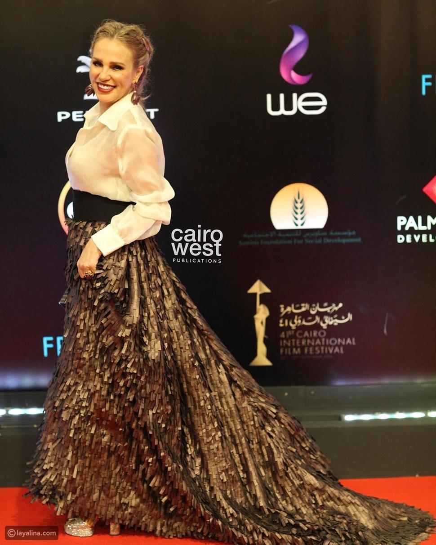 لن تصدقوا إطلالة شيرين رضا في ختام مهرجان القاهرة السينمائي!