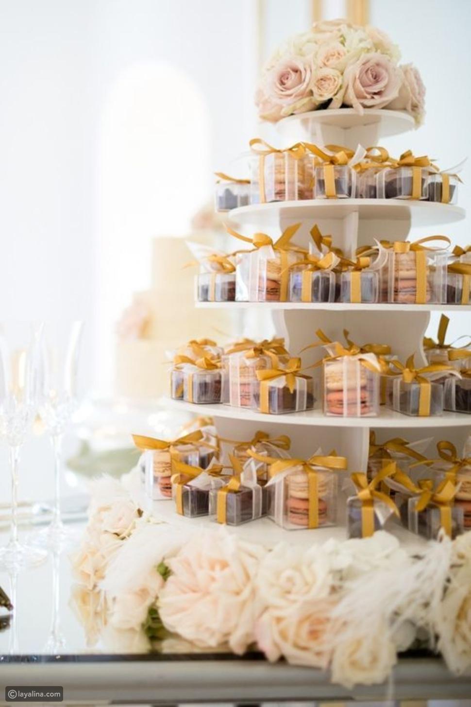صناديق الماكرون، من صيحات كيكات زفاف 2017