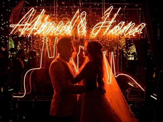 صور جديدة من حفل زفاف أحمد فهمي وهنا الزاهد