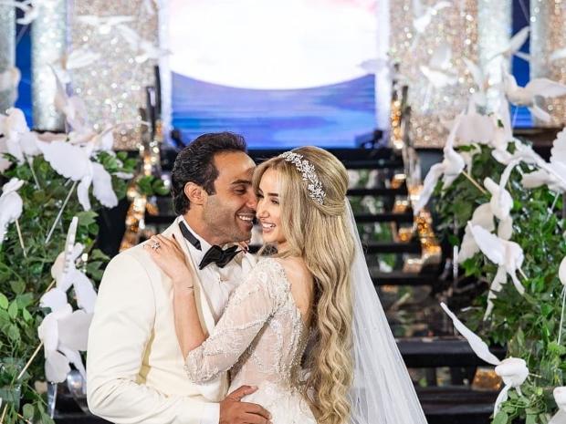 لقطات مبهرة من حفل زفاف أحمد فهمي وهنا الزاهد