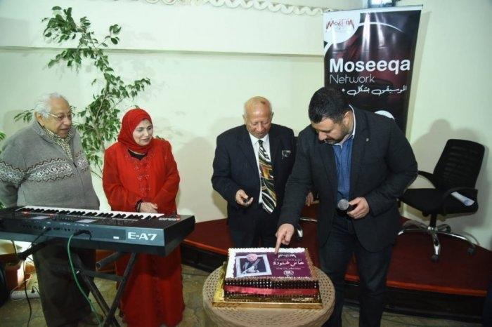 فاطمة عيد في حفل تكريم هاني شنودة