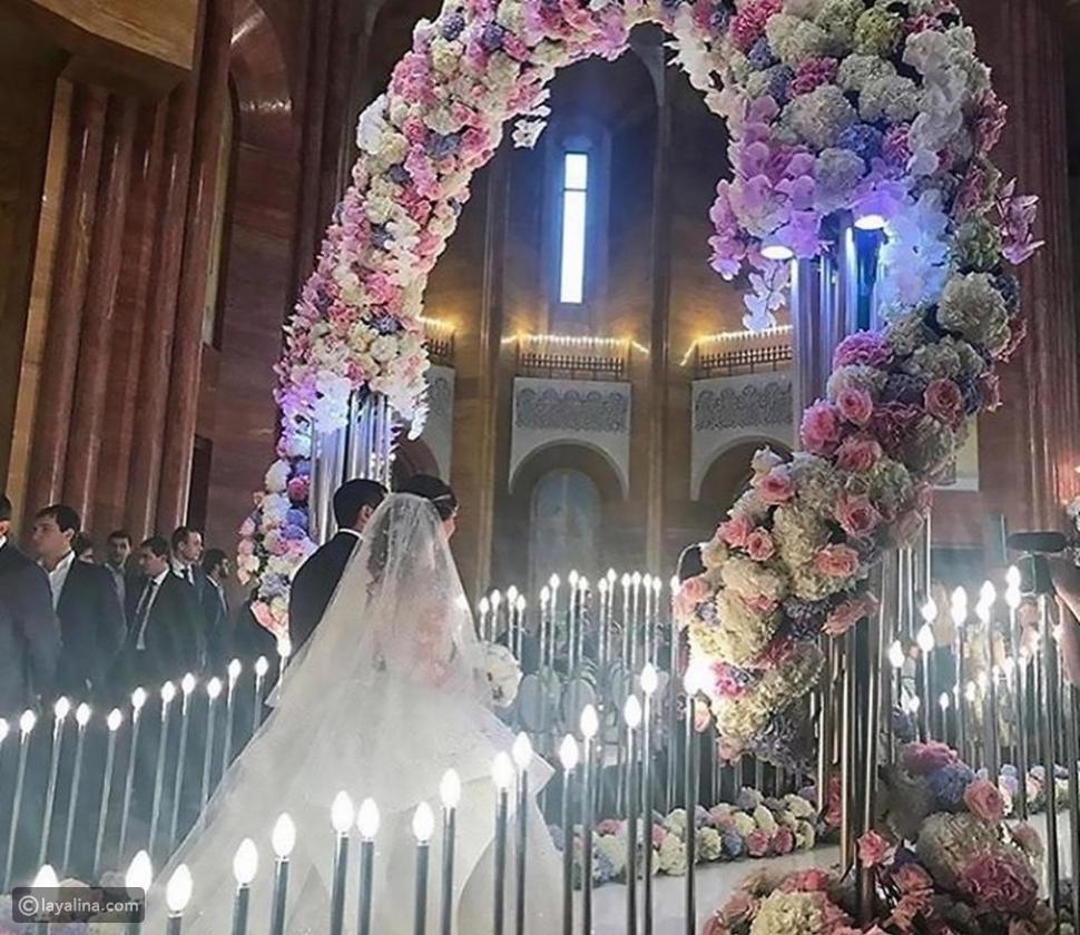 زينة حفل الزفاف