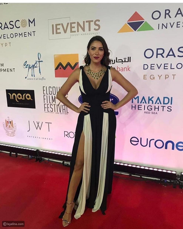 دانييلا رحمة بفستان من زهير مراد في مهرجان الجونة السينمائي