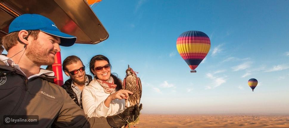 """""""بالون أدفنتشرز"""" في شهر العسل في دبي"""