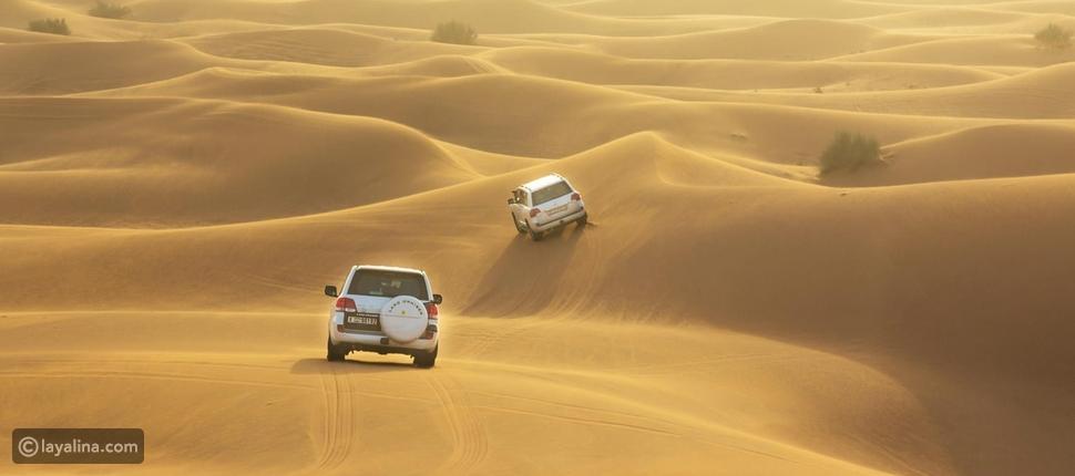 رحلة سفاري صحراوية في شهر العسل في دبي