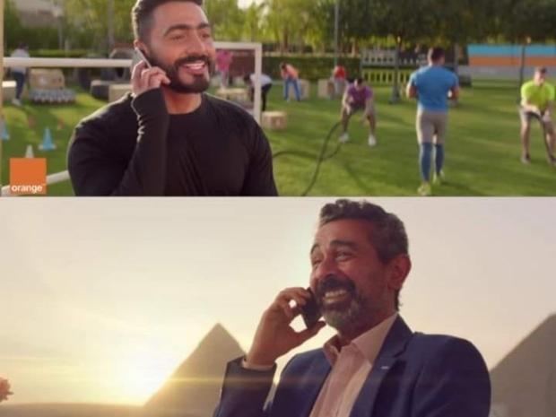 إعلان جمع بين تامر حسني ومصطفى هريدي