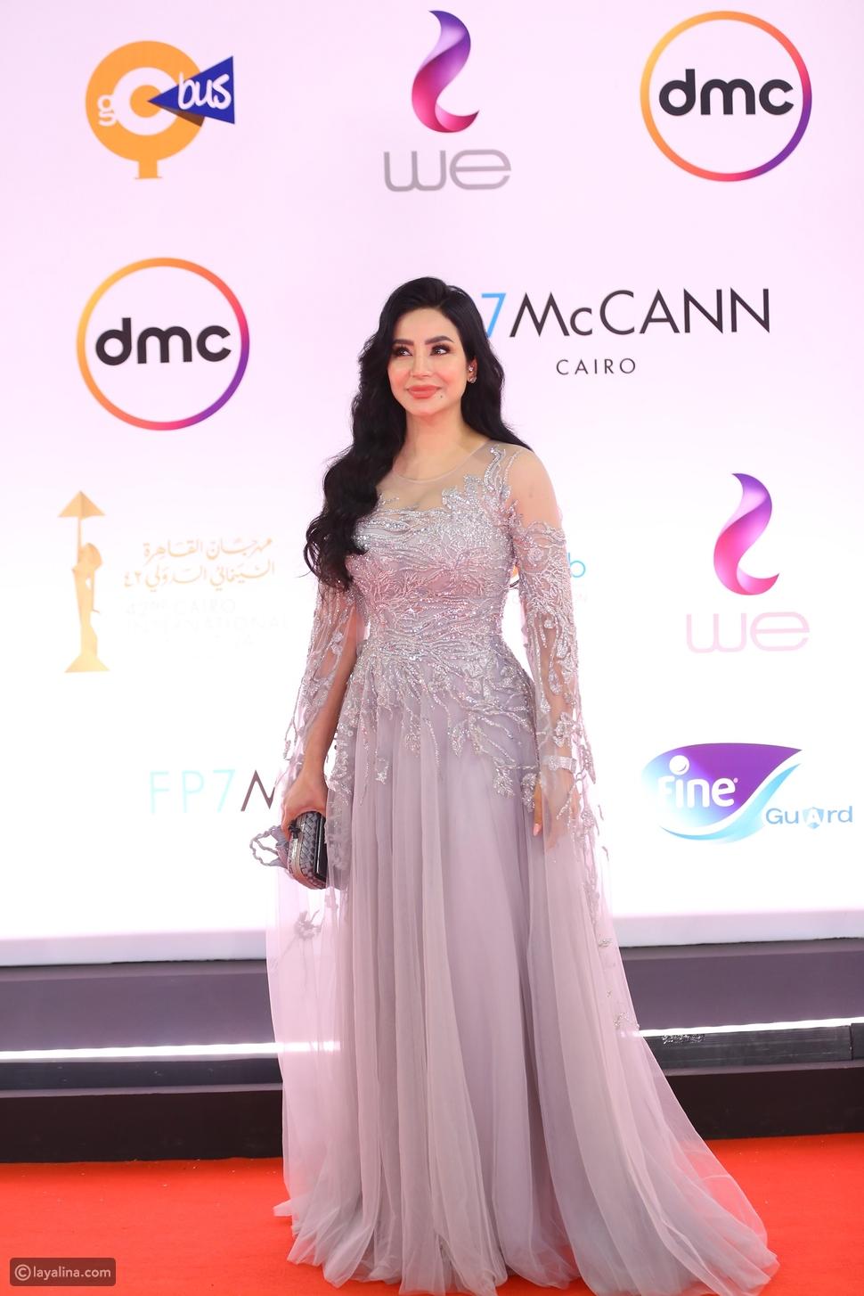 لجين عمران في افتتاح مهرجان القاهرة السينمائي 2020