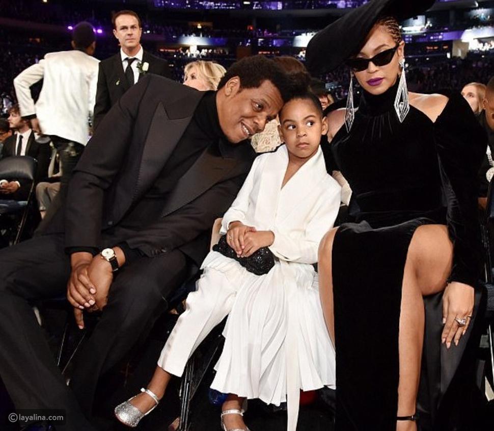 بيونسيه مع زوجها المغني جاي زي وابنتها الكبرى
