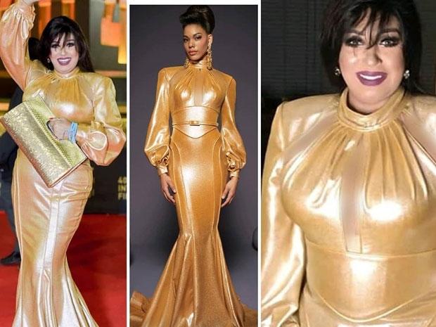فستان فيفي عبده على عارضة الأزياء