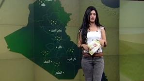 مذيعة نشرة جوية تحصد أعلى نسبة متابعة بين رجال العراق