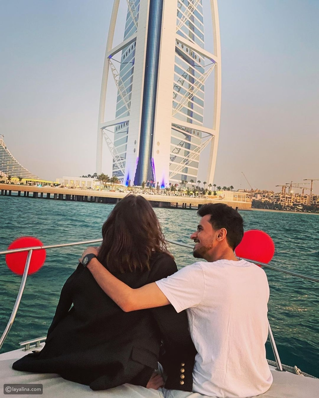 عايض يوسف وهبة الحسين في أجواء رومانسية احتفالًا بعيد الحب