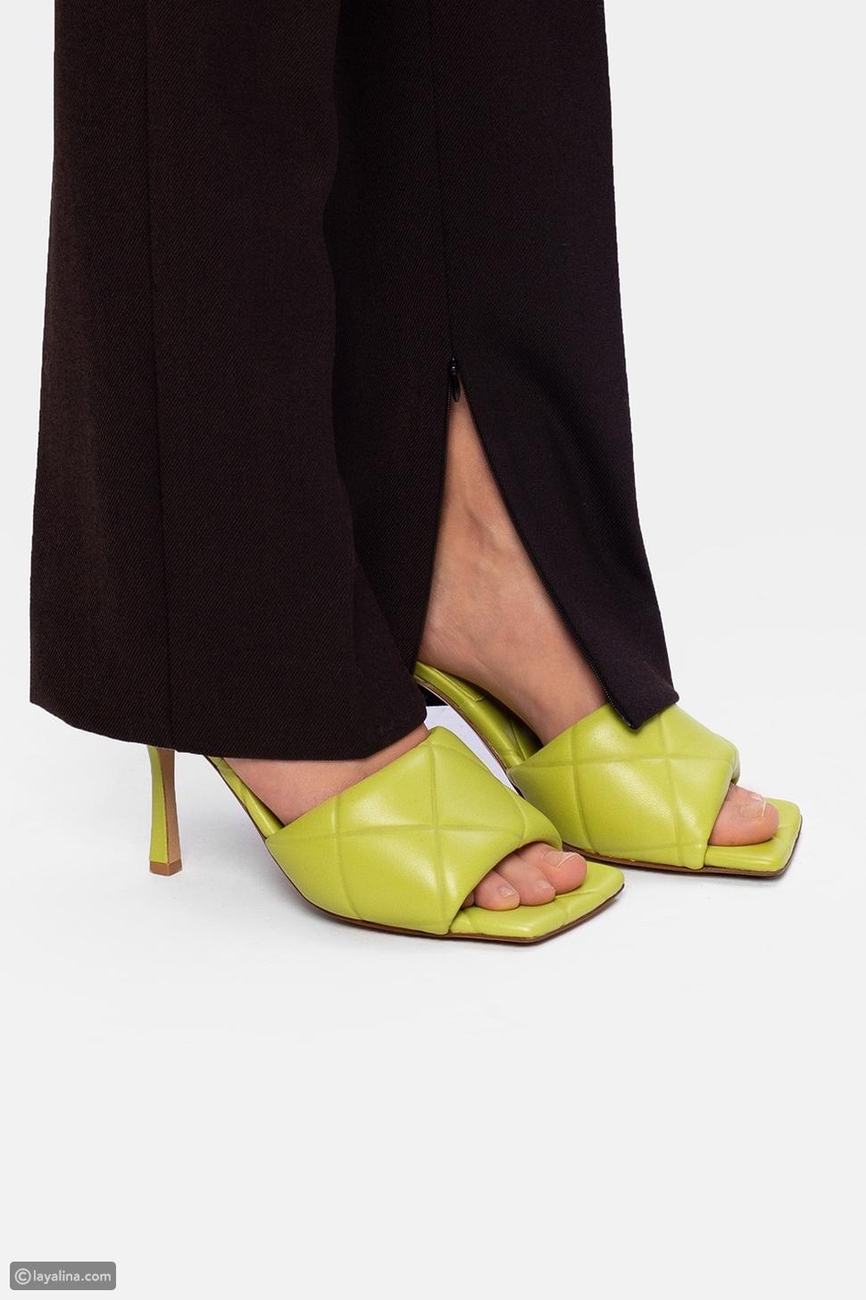 """صندل بوتيغا فينيتا بي في ليدو من الجلد """"Bottega Veneta BV Lido Leather Sandals"""""""