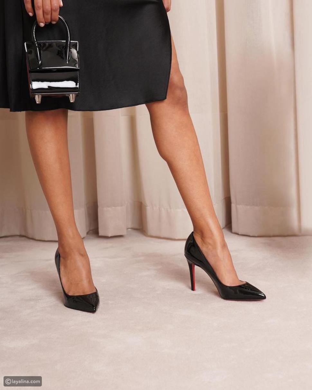 كريستيان لوبوتان حذاء Pigalle 100 من الجلد الامع