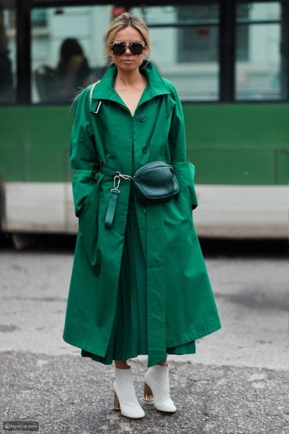 ملابس باللون الأخضر
