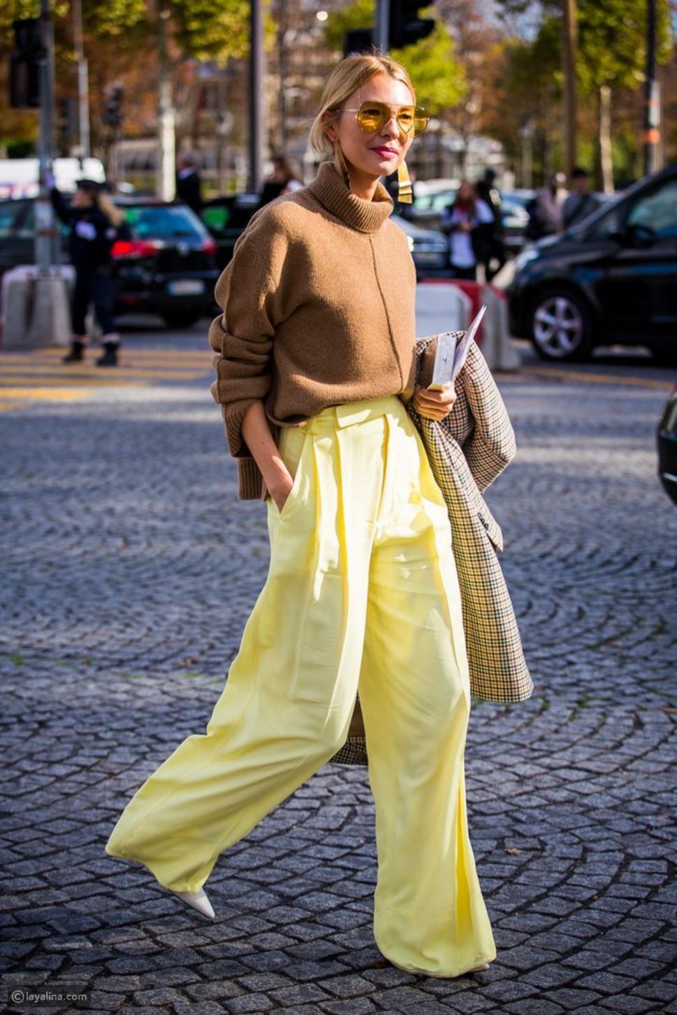 أزياء باللون الأصفر