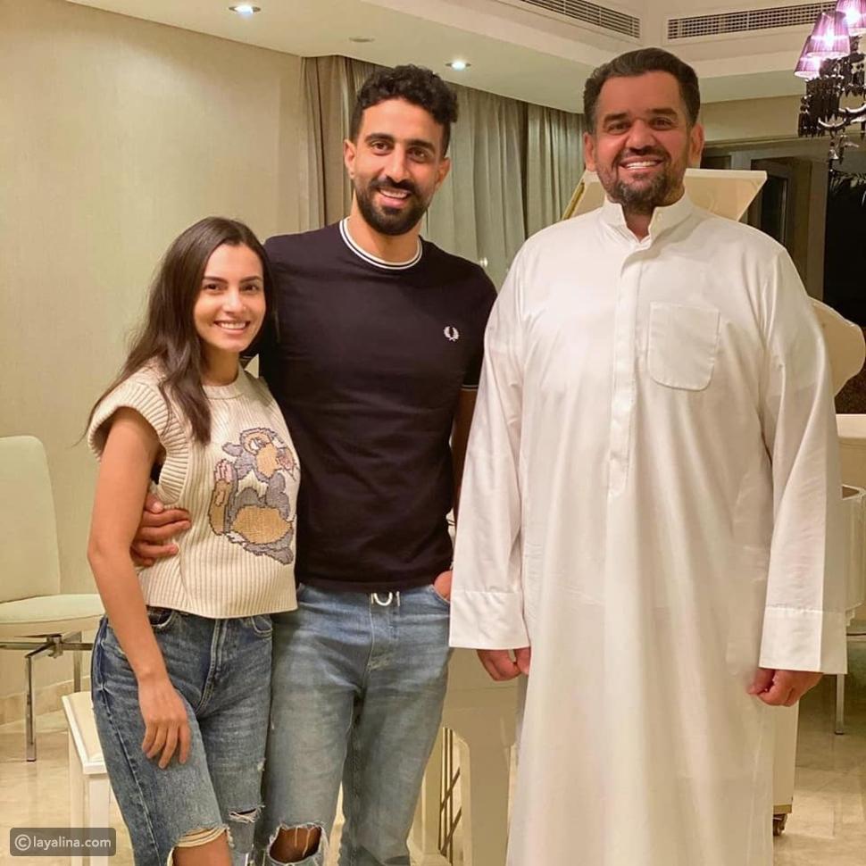 حسين الجسمي مع كارمن سليمان وزوجها