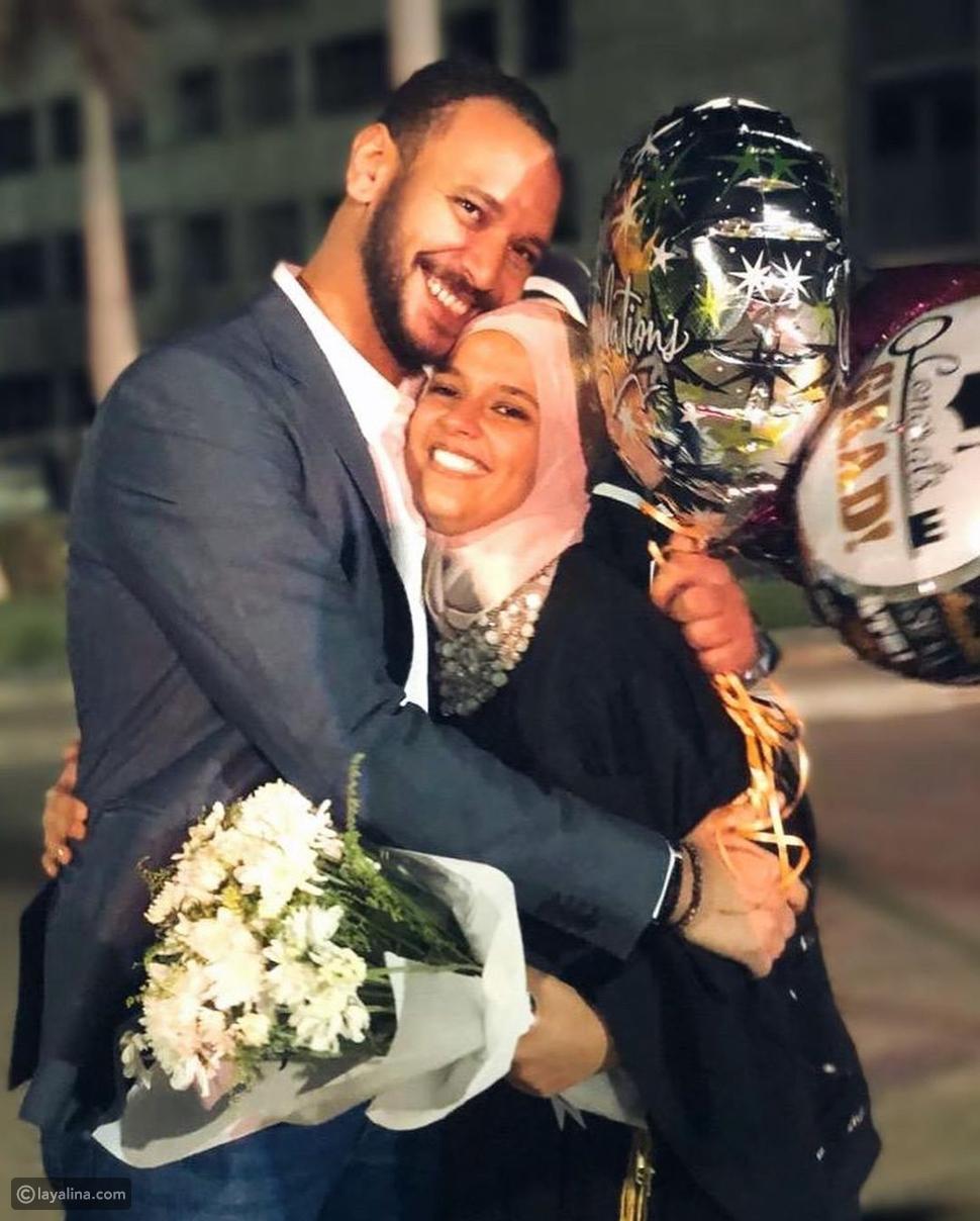من حفل تخرج ابنة الراحل خالد صالح