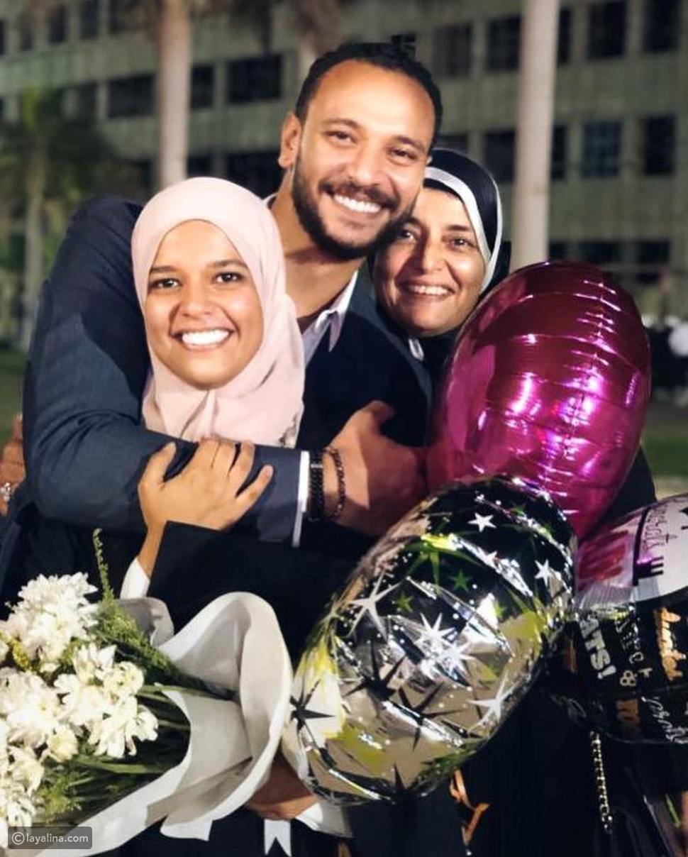 ابنة خالد صالح تحتفل بحفل تخرجها