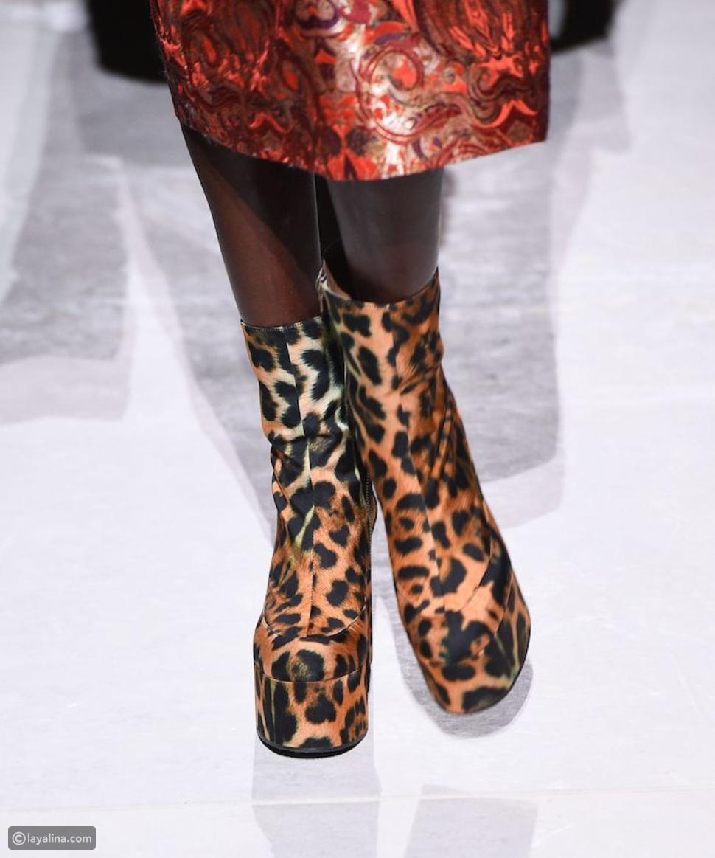 أحذية ضخمة في عرض أزياء Dries van Noten