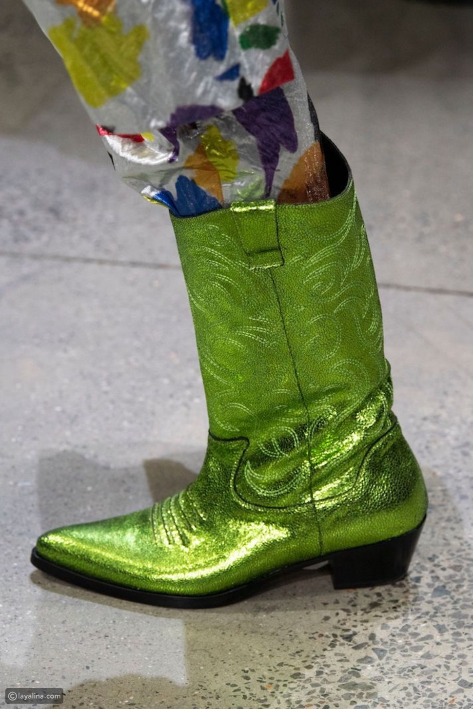 حذاء كاحل لامع من جيرمي سكوت