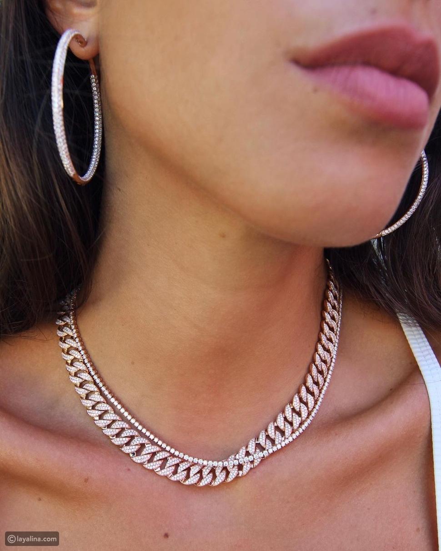 قلادات سلسلة من الماس
