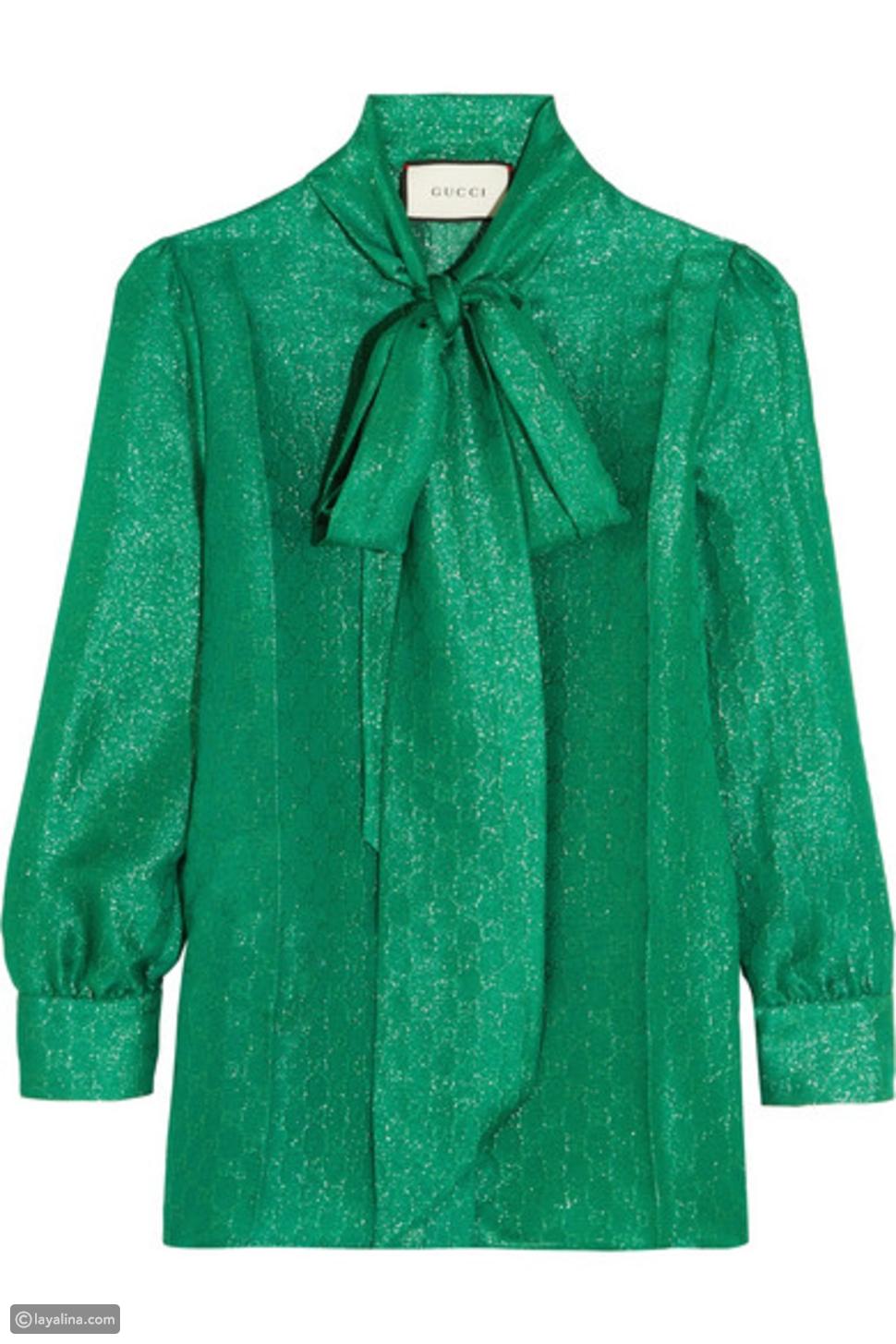 لوك اليوم: مزيج اللون الأخضر الرائع مع أزياء جلد الأفعى.. ما رأيك به؟