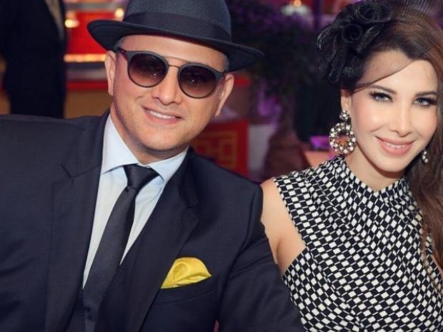 نانسي عجرم وزوجها فادي الهاشم خلال إحدى الحفلات
