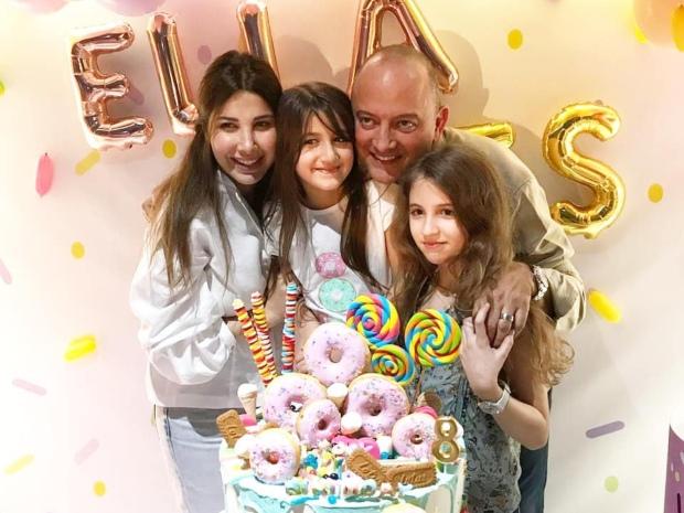 نانسي عجرم وزوجها فادي الهاشم يحتفلان بعيد ميلاد ابنتهما إيلا