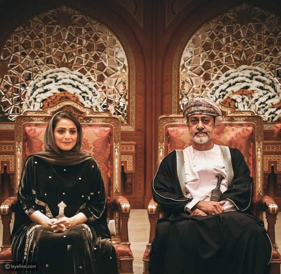سلطان عُمان والسيدة زوجته