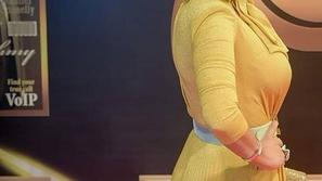 صور كشفت سر نجاة داليا البحيري من الهجوم رغم ارتدائها فستان رانيا يوسف