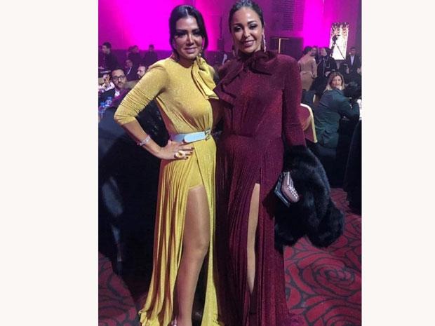 رانيا يوسف وداليا البحيري بنفس الفستان في دير جيست