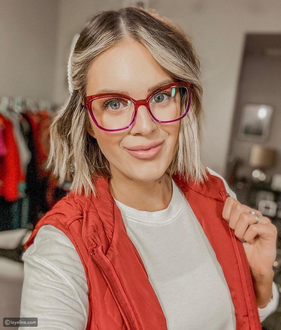 نظارات طبية بإطار ملون