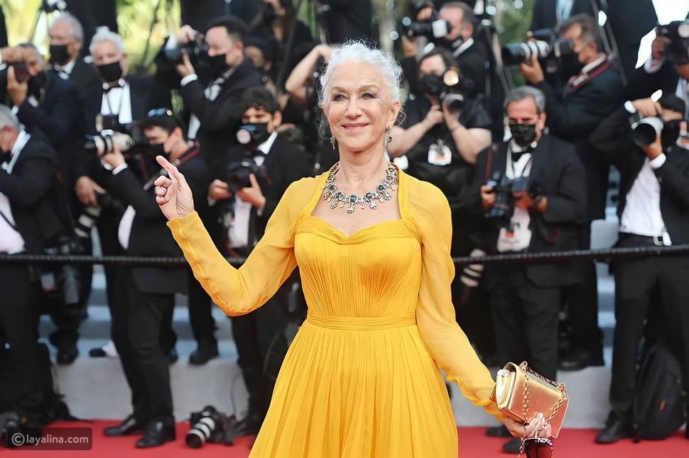 هيلين ميرين بفستان أصفر رائع من دولتشي أند غابانا في افتتاح مهرجان كان