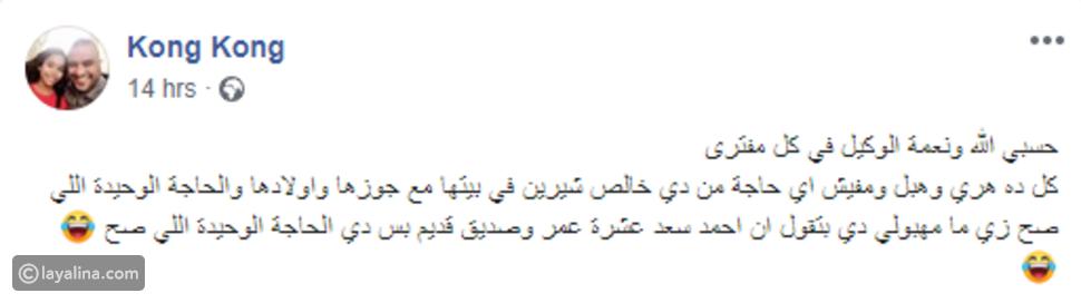 شقيق شيرين ينفي أخبار مشادتها مع زوجها