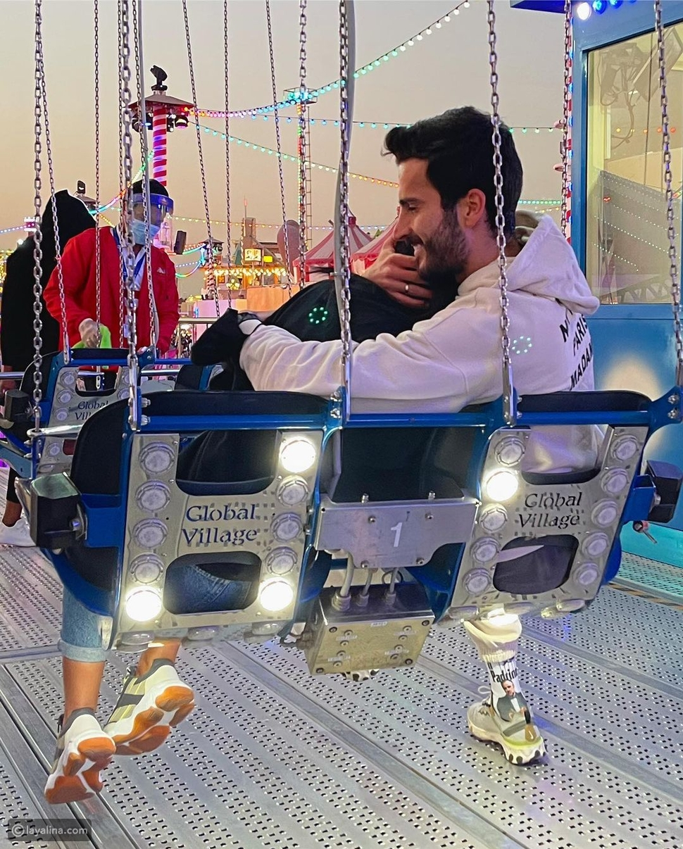 مهند الحمدي وخطيبته فرح مراد