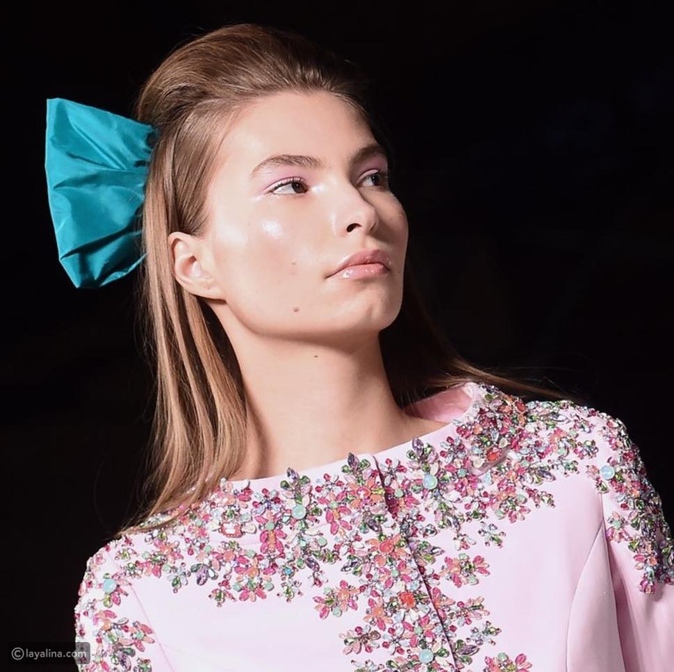 أربطة الشعر في عرض أزياء رالف وروسو Ralph & Russo