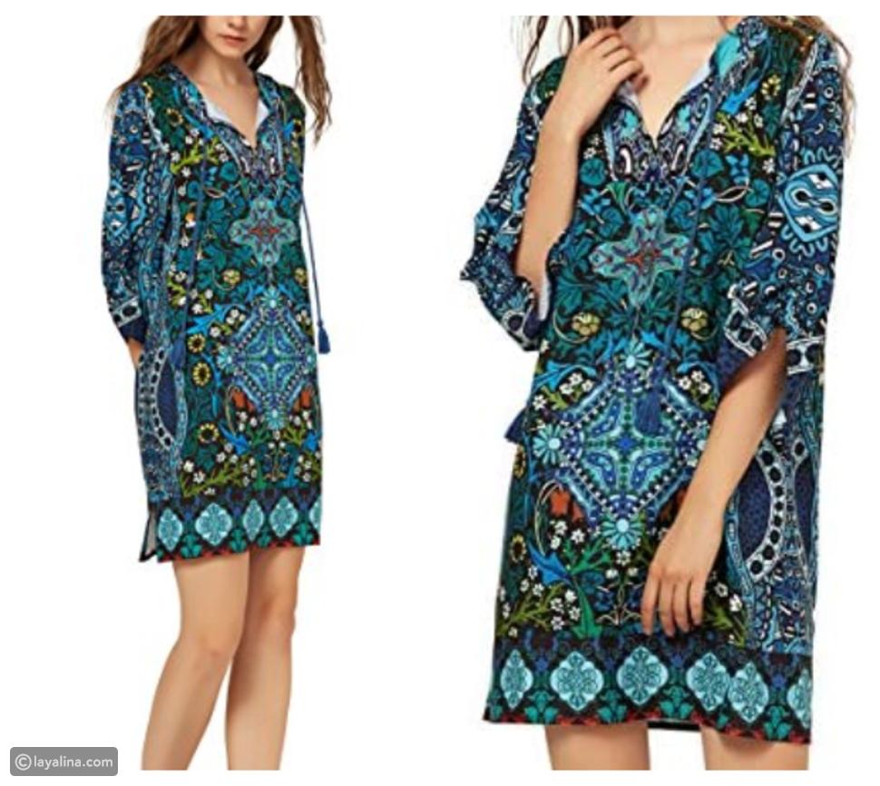 فستان بوهيمي قصير