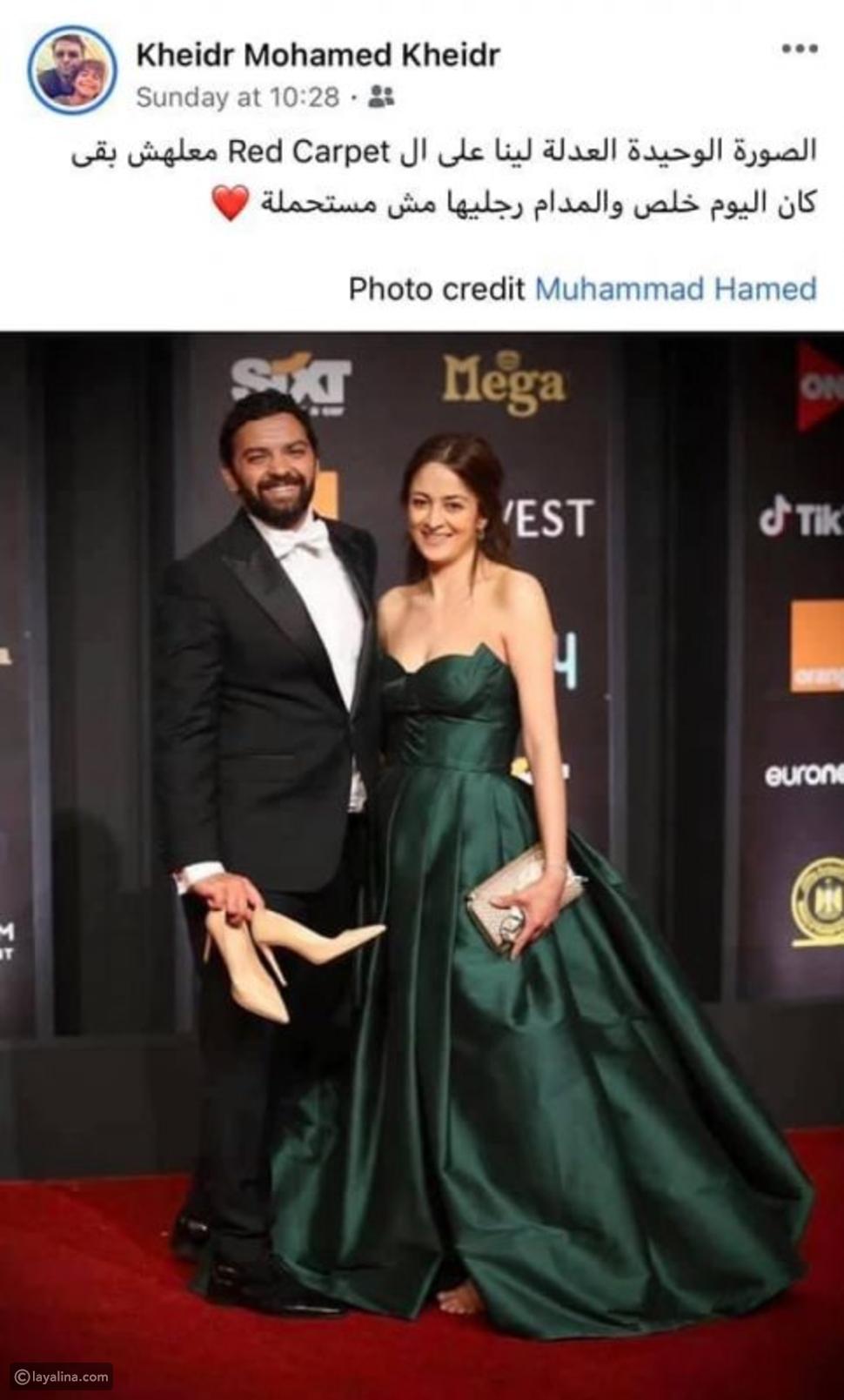خضر محمد خضر  يرد على الإنتقادات التي طالته بعد حمله حذاء زوجته
