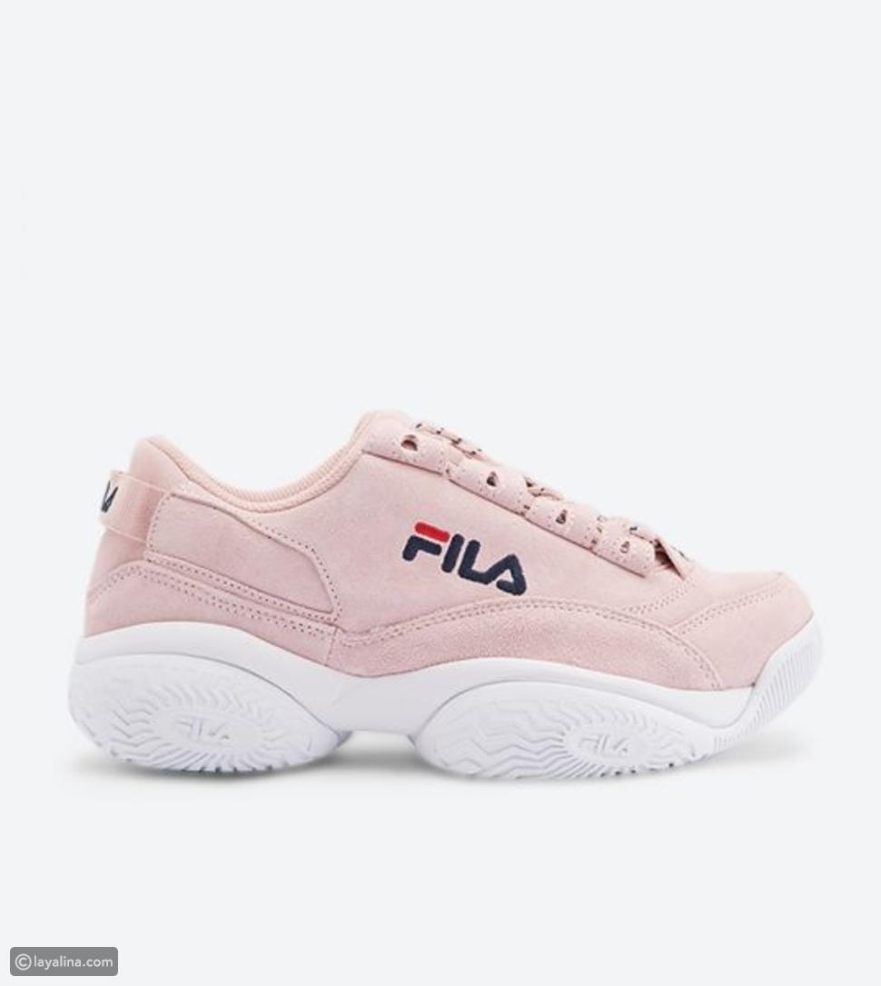 حذاء سنيكرز باللون الوردي من فيلا